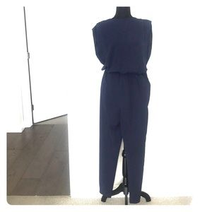 Navy Jumpsuit Zara